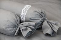 Posteľné prádlo jednofarebné šedé farby
