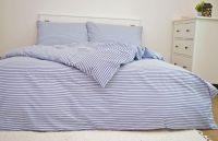 Krepové  posteľné obliečky Pruhy modré