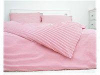 Krepové posteľné obliečky Pruhy červené