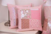 Posteľné prádlo so vzorom patchworku ruzovej farby