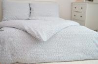 Bavlnené posteľné obliečky Kvetinky modré