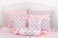 Obliečky sedliackeho štýlu so vzorom ruže ladené do ružovej farby
