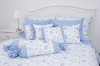 Flanelové posteľné obliečky RŮŽA MODRÁ / LATA