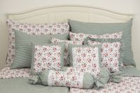 Krepové posteľné oblečky ROSE / OLIVOVÝ PRÚŽOK