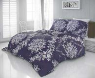 Luxusné satenové obliečky MELROSE fialové