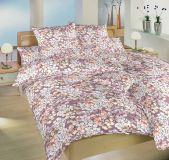 Krepové obliečky s motívom kvetov ladené do ružovej farby Otman staroružový Dadka
