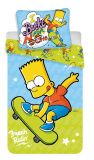 Bavlnené obliečky Bart zelený na skate Jerry Fabrics