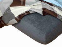Napínacia froté plachta v tmavo šedej farbe Dadka