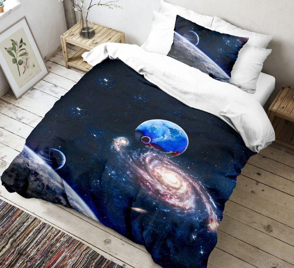 Krásne bavlnené obliečky s vesmírnym motívom. Kvalitex