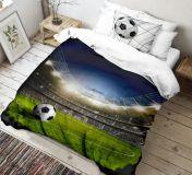Bavlnené moderné 3D obliečky Fotbal