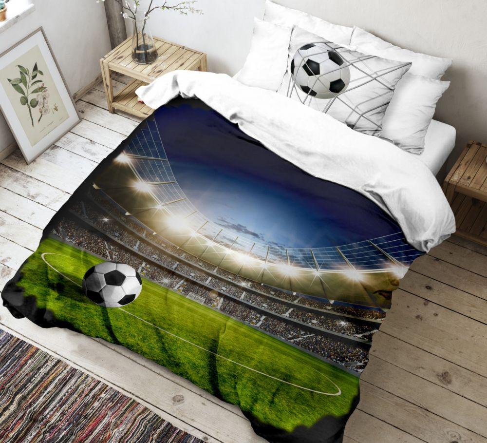 Kvalitné bavlnené obliečky s futbalovým motívom. Kvalitex