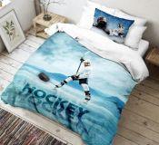 Bavlnené moderné 3D obliečky Hokej