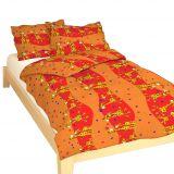 Krepové obliečky žirafa červená Dadka