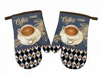 Kvalitná súprava kuchynských chňapiek Coffee time   2 ks