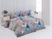 Kvalitné bavlnené obliečky s květinamy a pávom. | 1x 140/200, 1x 90/70