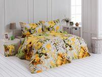Kvalitné bavlnené obliečky v jarných farbách so záplavou kvetov. | 1x 140/200, 1x 90/70