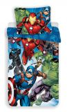 "Detské bavlnené obliečky Avengers ""Brands 02""   1x 140/200, 1x 90/70"