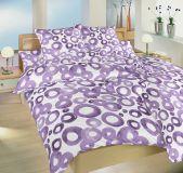 Krepové obliečky fialové krúžky - Akvarel fialové Dadka