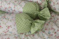 Povlak valček so vzorem kvietku zelenej farby | Poťah na valček bavlnený, Poťah na valček bavlnený s krajkou, Poťah na valček krepový, Poťah na valček krepový s krajkou