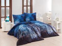 Kvalitné bavlnené obliečky s motívom stromov v tmavom nočnom pozadí | 1x 140/200, 1x 90/70